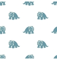 on white background blue dinosaurs vector image vector image