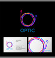 optic logo letter cable web computing digital vector image vector image