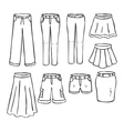 pants and skirts vector image vector image