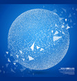 particles constructed planet globe vector image vector image