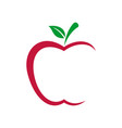 red apple logo template vector image