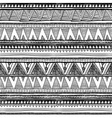 Seamless ethnic pattern Black and white vector image vector image