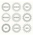 Set of 2016 Christmas season hand drawn vector image