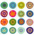 set of childish flowers vector image vector image