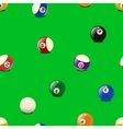 Set of color billiards balls seamless pattern vector image