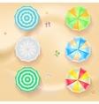 Set of colorful beach umbrellas vector image vector image