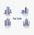 set of icons real estate icons of ar vector image vector image