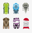 Set robots isolated on a white background vector image vector image