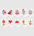 set tags with elephant in love vector image vector image
