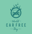 simple letter emblem car free day for element vector image vector image