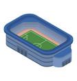 soccer stadium icon isometric style vector image vector image