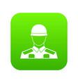 soldier icon digital green vector image