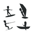 summer set of silhouettes vector image vector image