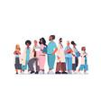 team medical professionals mix race doctors vector image vector image