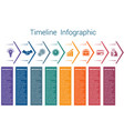 timeline infographic 8 color arrows vector image vector image