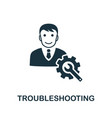 troubleshooting icon symbol creative sign vector image