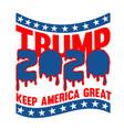 trump 2020 keep america great t shirt design vector image
