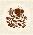 typography of thanksgiving vector image