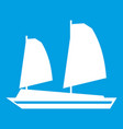 vietnamese junk boat icon white vector image vector image