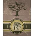 Vintage Olive Tree Label vector image