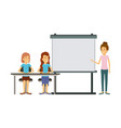 white background with couple of women sitting in a vector image vector image