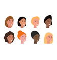 women heads set vector image vector image