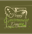 world environment day lettering card vector image vector image