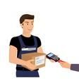 Delivery service and payment by credit card vector image
