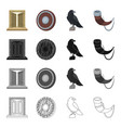 history vikings weapons and other web icon in vector image