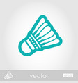 shuttlecock badminton sport icon summer vacation vector image