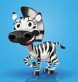 Cute cartoon character baby zebra vector image