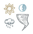 a set of weather vector image vector image