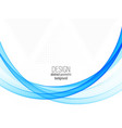 abstract blue business technology colorful wave vector image vector image