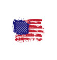 abstract hand drawn grunge texture usa flag vector image vector image