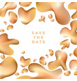 abstract shiny gold in assorted drop shapes vector image vector image