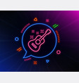 acoustic guitar line icon music sign
