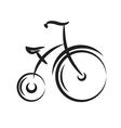 Antique highwheel bike black and white