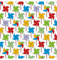 background pattern with pinwheel vector image vector image
