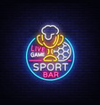 bar bar logo in neon style football fan club vector image vector image