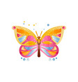 beautiful butterfly on a white vector image vector image