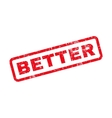 Better Text Rubber Stamp vector image vector image