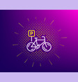 bicycle parking line icon bike park sign vector image vector image
