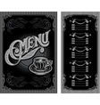 black and white pattern for coffee menu vector image vector image