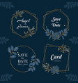 blue navy hand drawn wreath background collection vector image vector image