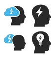 Brainstorming Flat Icons vector image