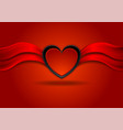 bright red valentines day background with heart vector image vector image