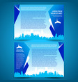 brochure folder city town tower design template vector image