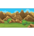 Brown Hills Game Background vector image