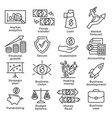 budget and finance line icons on white background vector image vector image