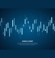 candle chart growth graph investment finance vector image